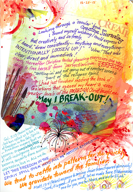 Creative Journaling page